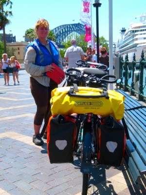 Circular Quay and the Harbour Bridge - Sydney, NSW - Cycling Across Australia
