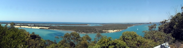 Panorama of Lakes Entrance, Victoria - Cycling Across Australia