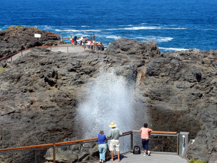 Blowhole at Kiama - NSW- Cycling Across Australia