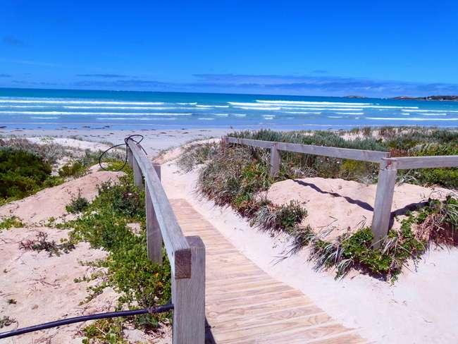 Gorgeous Beachport Beach, South Australia - Cycling Across Australia