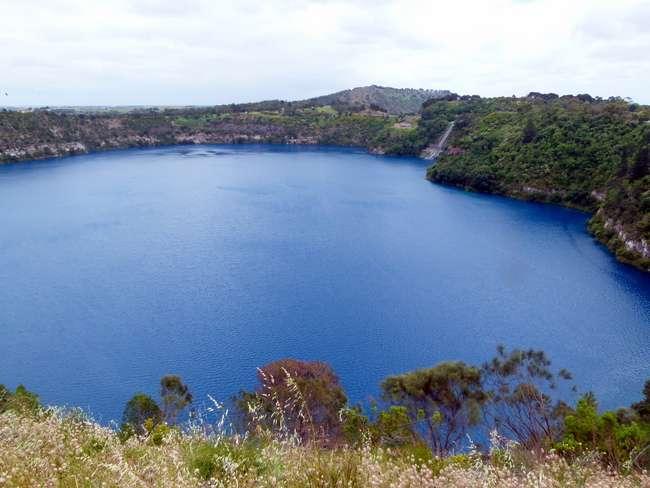 Blue Lake, Mt Gambier, South Australia - Cycling Across Australia