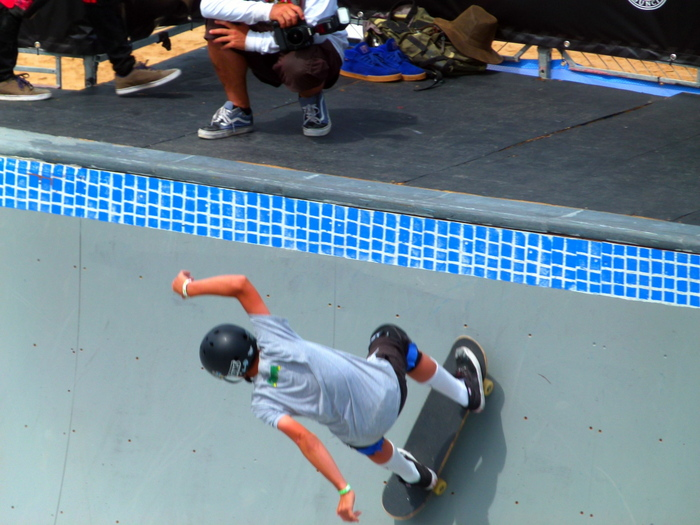 Skateboard Action at the Hurley Skateboard Championship - Manly - Cycling Across Australia