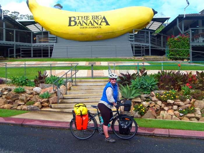 The Big Banana - Coffs Harbour,  - Cycling Across Australia