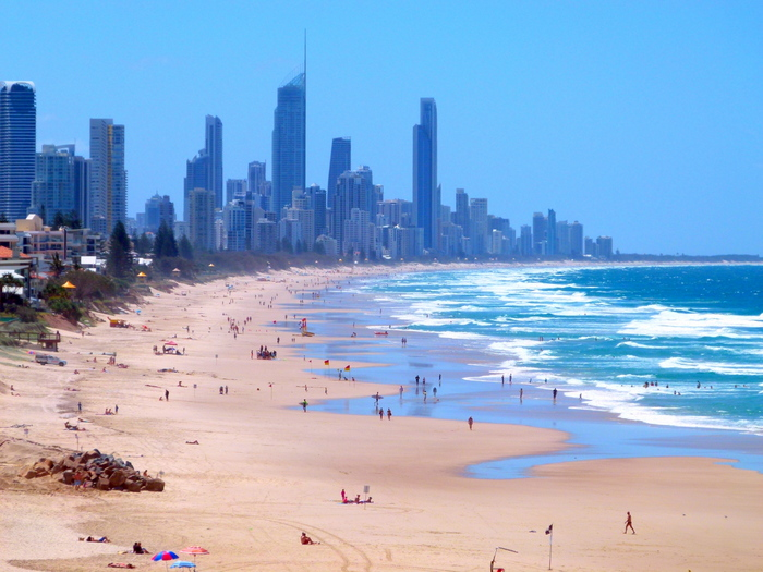 Views of the Gold Coast -  - Cycling Across Australia
