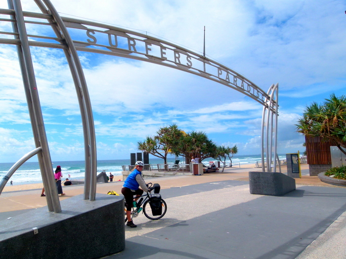 Setting out from the Gold Coast, Queensland - Cycling Across Australia