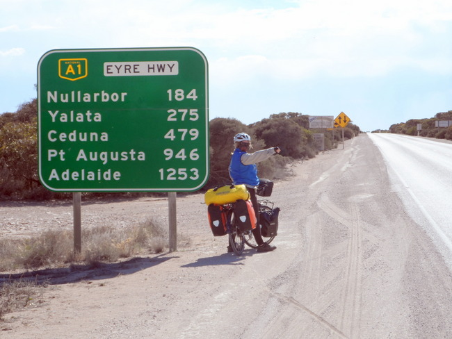 South Australian section of The Nullarbor - cycling Across Australia