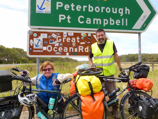 The start of the iconic Great Ocean Road - Cycling across Australia