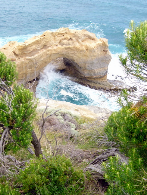 Stunning rock formations on The Great Ocean Road - Cycling Across Australia