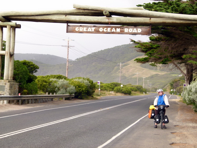 Completing the Great Ocean Road - Cycling Across Australia