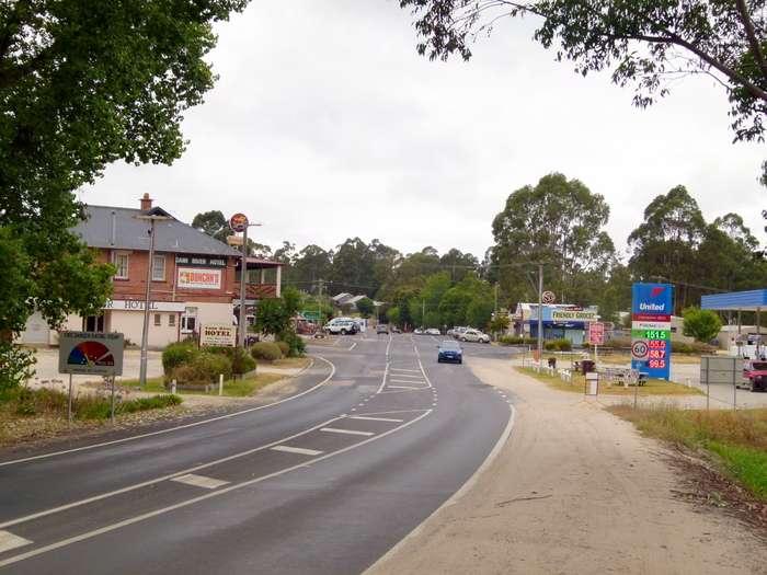 Main Street Cann River, Victoria - Cycling Across Australia