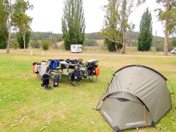 Free Camp at Genoa, Victoria - Cycling aCross Australia