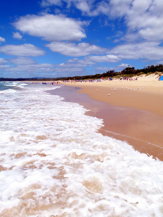 Beach at Merimbula - Cycling Across Australia