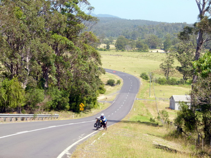 Murrah Hill between Tathra and Bermagui - Cycling Across Australia