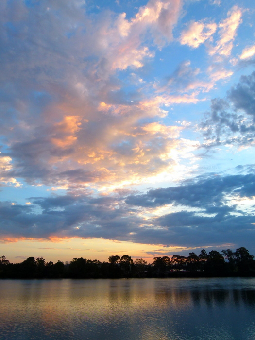 Sunset on the River at Moruya - Cycling Across Australia