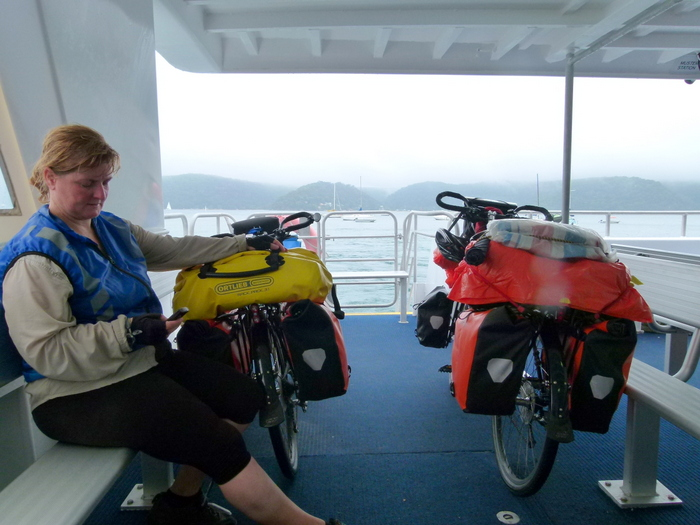Ferry from Palm Beach to Ettalong - Cycling Across Australia