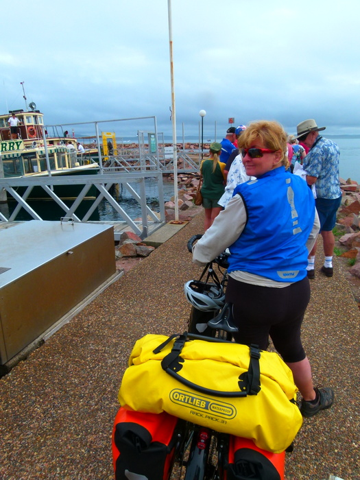 Ferry from Nelsons Bay to Tea Garden - Cycling Across Australia