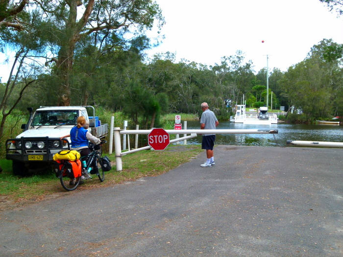Ferry across the creek on Bombha Road, Myall Lakes National Park - Cycling Across Australia