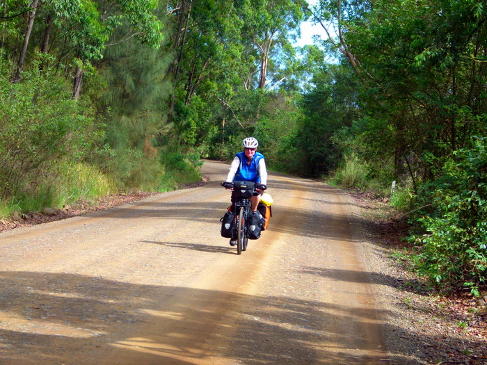 Cycling towards Buladelah - cycling Across Australia