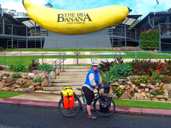 The Big Banana, Coff Harbour, NSW - cycling Across Australia