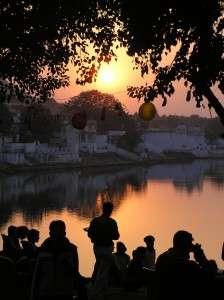 Sunset over Pushkar