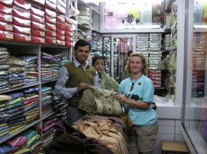 Buying my local garb - Chandni Chowk New Delhi