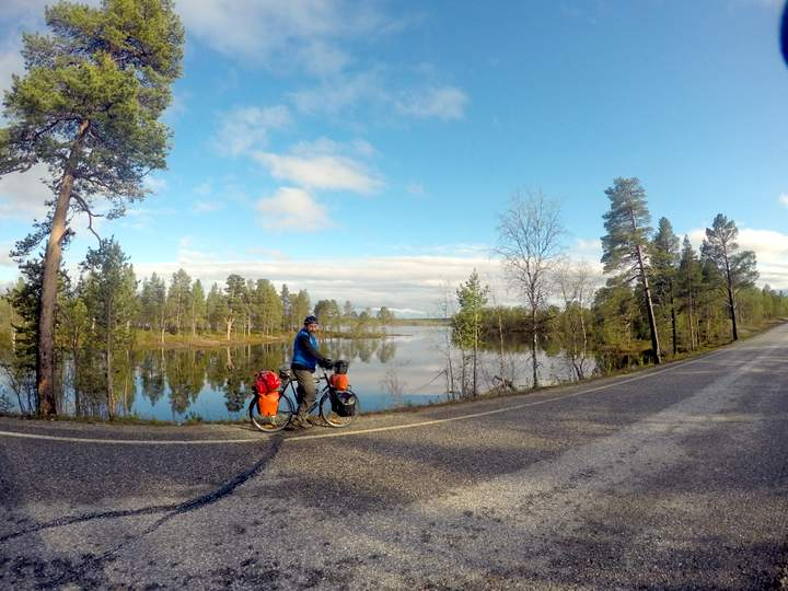 Bicycle touring in Lapland