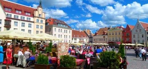Tallinn Estonia - Main Square, Raekoja Plats