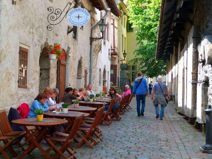 Tallinn Estonia - Cafes around every corner
