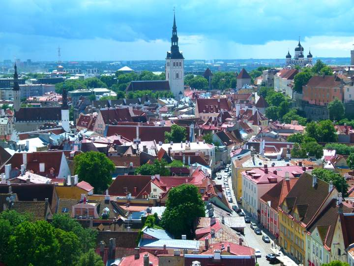 Tallinn Estonia - View from St Olafs