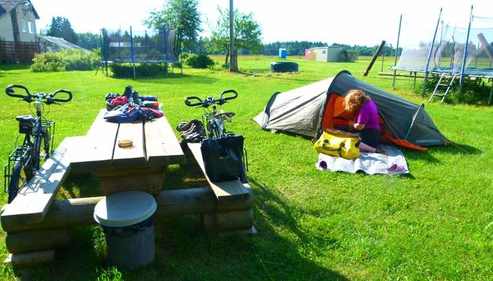 Cycling in Estonia - Camping at Linnamae