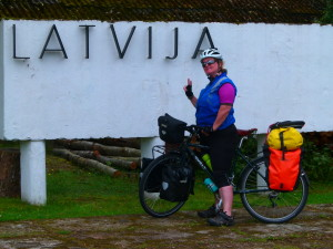 Cycling in Latvia - the border