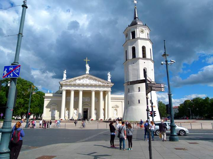 The Cathedral in Old Town Vilnius