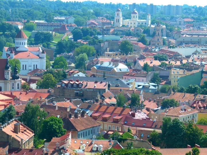 Looking over the Old Town - Vilnius