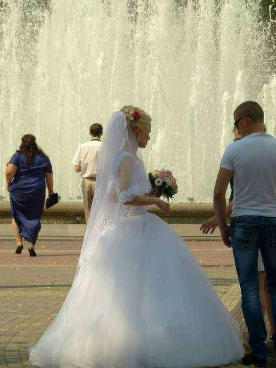 Wedding season in Minsk, Belarus