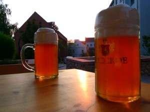 Cold beer at sunset - Minsk, Belarus