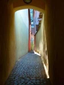 Narrow Streets, Old Town, Brasov, Transylvania, Romania