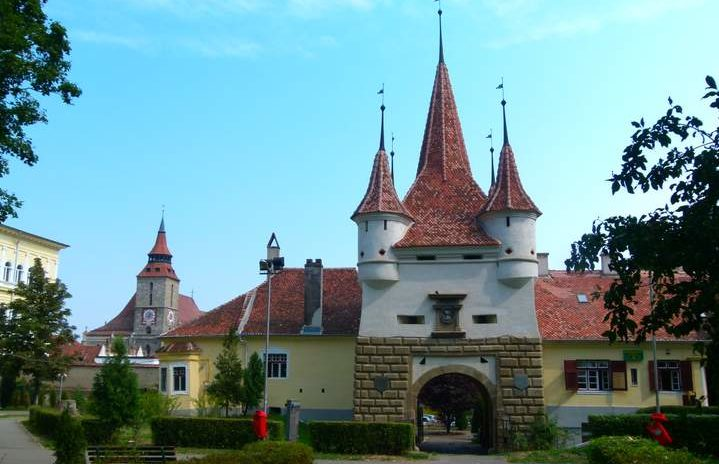 Catherine's Gate, Old Town, Brasov, Transylvania, Romania