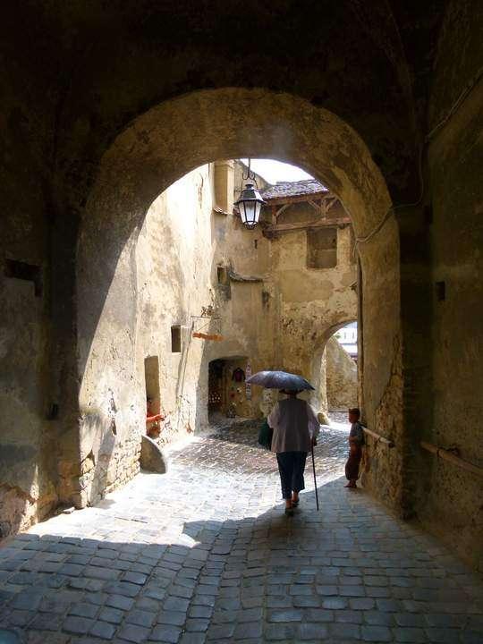 Ancient Streets Sighisoara, Romania