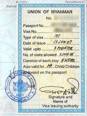 Myanmar Visa - validity, visa planning