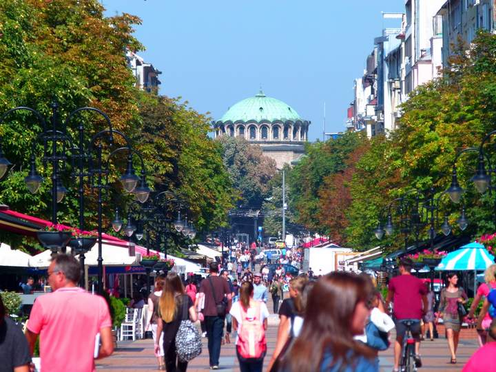 Walking Street Sofia Bulgaria