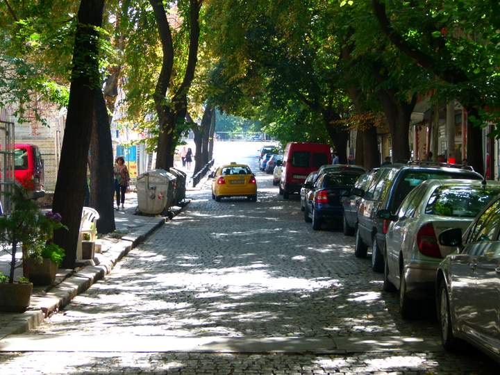 Green Street in Sofia Bulgaria