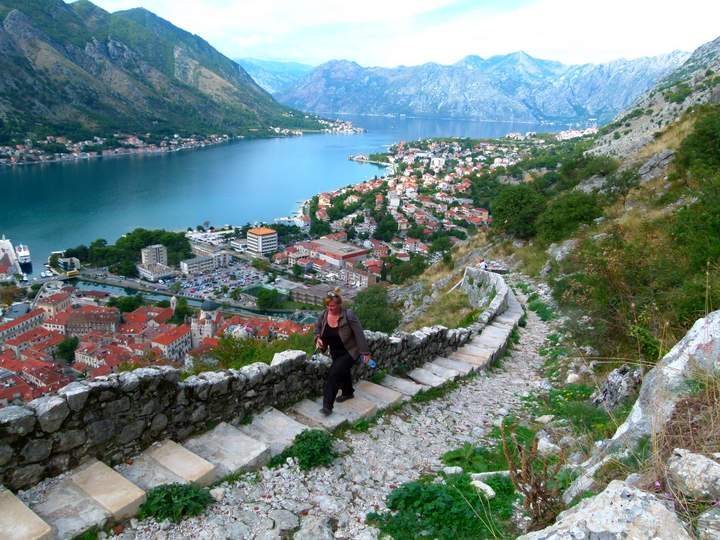Steps to the castle - Bay of Kotor - Montenegro