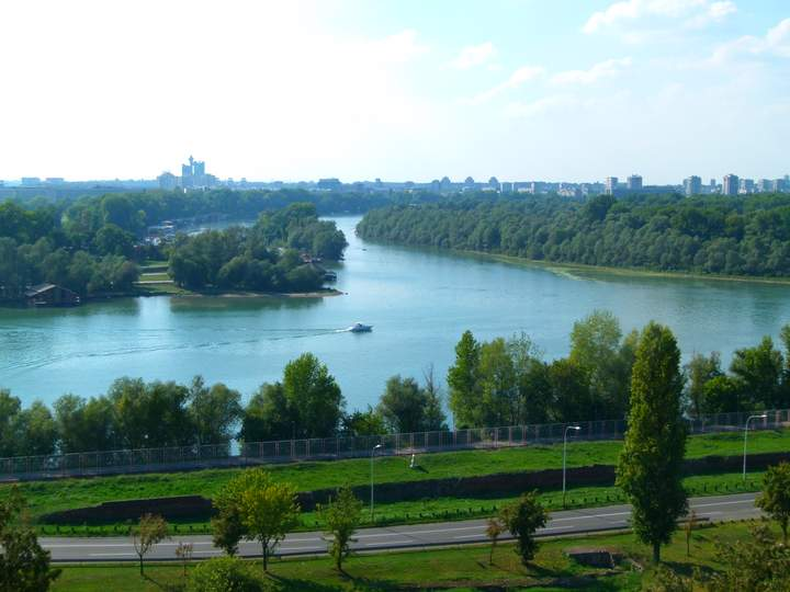 Danube and the Sava rivers. - Belgrade Serbia