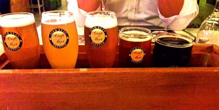 Siem Reap Brew Pub tasting flight