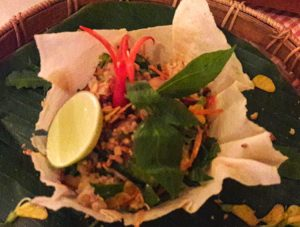 Siem Reap Brewpub - frog salad