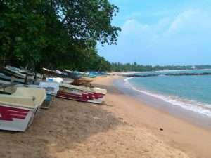 Tangalle beach fishing boats Sri Lanka