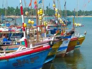 Fishing Boats Tangalle Sri Lanka