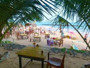 Beach bars Tangalle Sri Lanka
