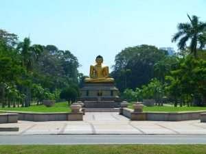 Buddha Statue Viharamahadevi Park Colombo