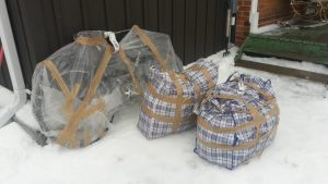 Wrapped up bikes, Barrie